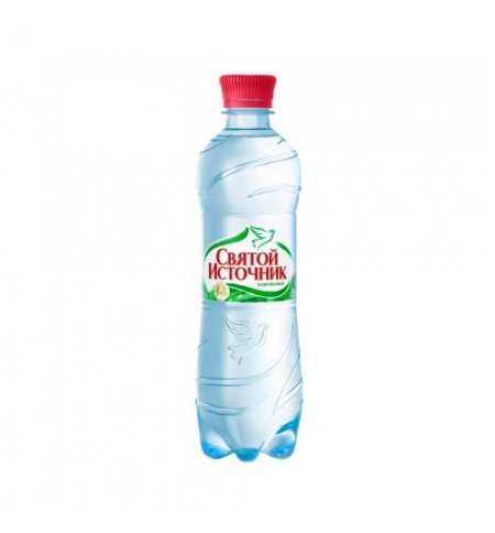 фото: Вода питьевая Святой Источник 0,5 л с газом, ПЭТ