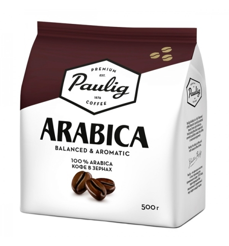 фото: Кофе в зернах Paulig Arabica 500г пачка