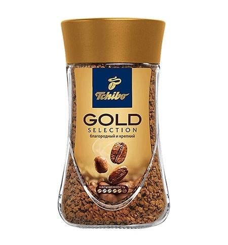 фото: Кофе растворимый Tchibo Gold Selection 190г стекло