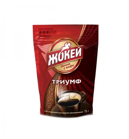 фото: Кофе растворимый Жокей Триумф 75г пакет