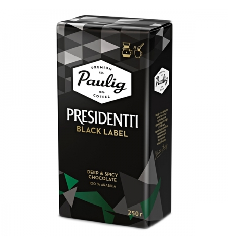 фото: Кофе молотый Paulig President Black 250г пачка