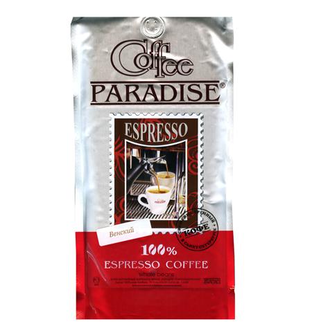 фото: Кофе в зернах Paradise Espresso Венский 1кг пачка