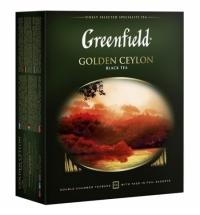 Чай Greenfield Golden Ceylon (Голден Цейлон) черный, 100 пакетиков