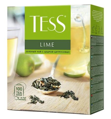 фото: Чай Tess Lime (Лайм) зеленый, 100 пакетиков