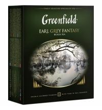 Чай Greenfield Earl Grey Fantasy (Эрл Грей Фэнтази) черный, 100 пакетиков