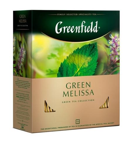 фото: Чай Greenfield Green Melissa (Грин Мелисса) зеленый, 100 пакетиков