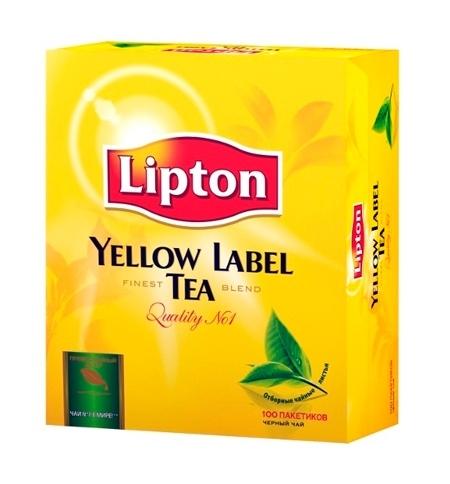 фото: Чай Lipton Yellow Label черный, 100 пакетиков