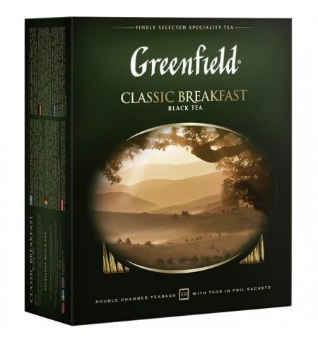 фото: Чай Greenfield Classic Breakfast (Классик Брекфаст) черный, 100 пакетиков