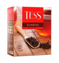 Чай Tess Sunrise (Санрайз) черный, 100 пакетиков