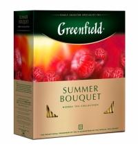 Чай Greenfield Summer Bouquet (Самма Букет) травяной, 100 пакетиков