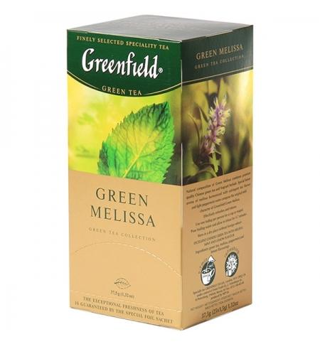 фото: Чай Greenfield Green Melissa (Грин Мелисса) зеленый, 25 пакетиков