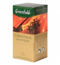 Чай Greenfield Christmas Mystery (Кристмас Мистери) черный, 25 пакетиков