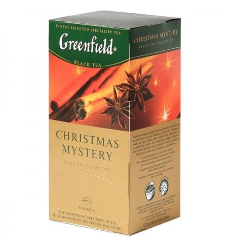 фото: Чай Greenfield Christmas Mystery (Кристмас Мистери) черный, 25 пакетиков