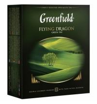 Чай Greenfield Flying Dragon (Флаинг Драгон) зеленый, 100 пакетиков