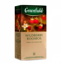 Чай Greenfield Wildberry Rooibos (Вайлдберри Ройбош) травяной, 25 пакетиков