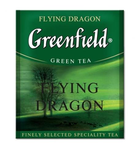 фото: Чай Greenfield Flying Dragon (Флаинг Драгон) зеленый, для HoReCa, 100 пакетиков