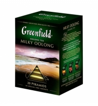 Чай Greenfield Milky Oolong (Милки Оолонг) улун, в пирамидках, 20 пакетиков