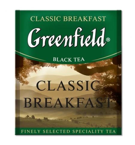 фото: Чай Greenfield Classic Breakfast (Классик Брекфаст) черный, для HoReCa, 100 пакетиков
