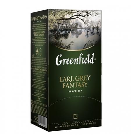 фото: Чай Greenfield Earl Grey Fantasy (Эрл Грей Фэнтази) черный, 25 пакетиков
