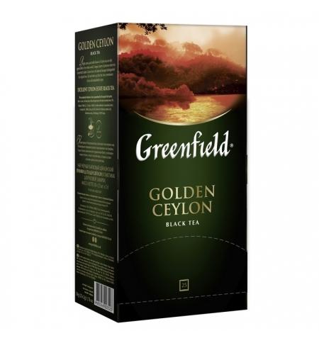 фото: Чай Greenfield Golden Ceylon (Голден Цейлон) черный, 25 пакетиков