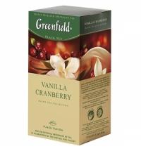 Чай Greenfield Vanila Cranberry (Ванилла Крэнберри) черный, 25 пакетиков