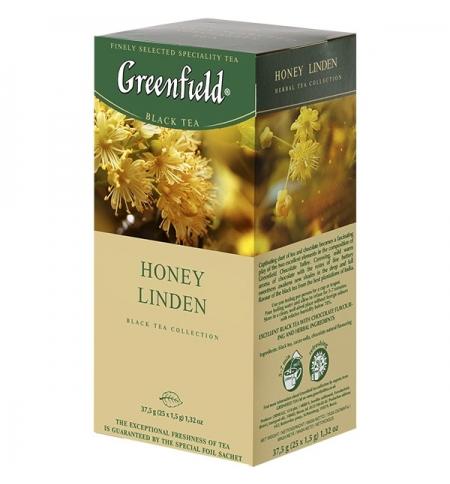 фото: Чай Greenfield Honey Linden (Хани Линден) черный, 25 пакетиков