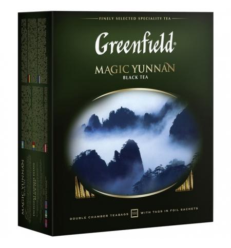 фото: Чай Greenfield Magic Yunnan (Мэджик Юньнань) черный, 100 пакетиков