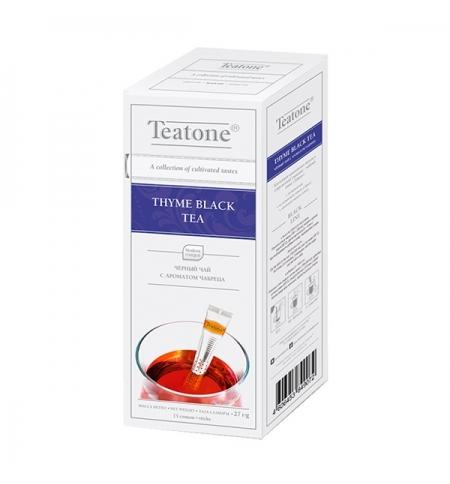 фото: Чай Teatone Thyme Black Tea черный, 15 стиков