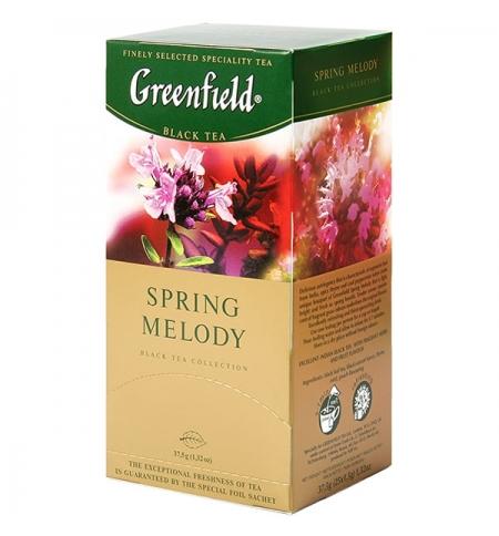 фото: Чай Greenfield Spring Melody (Спринг Мелоди) черный, 25 пакетиков