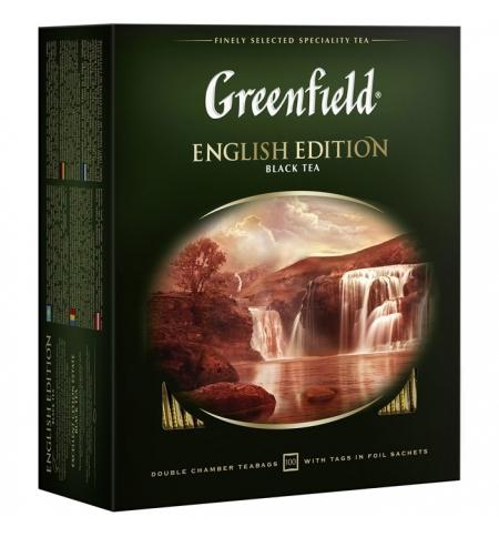 фото: Чай Greenfield English Edition (Инглиш Эдишн) черный, 100 пакетиков
