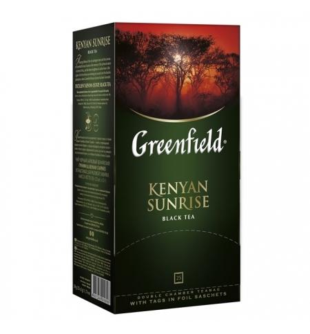 фото: Чай Greenfield Kenyan Sunrise (Кениан Санрайз) черный, 25 пакетиков