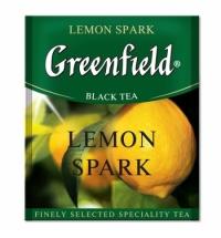 Чай Greenfield Lemon Spark (Лемон Спарк) черный, для HoReCa, 100 пакетиков