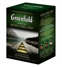 Чай Greenfield Royal Earl Grey (Роял Эрл Грей) черный, в пирамидках, 20 пакетиков