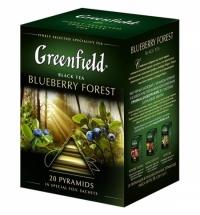 Чай Greenfield Blueberry Forest (Блюберри Форест) черный, в пирамидках, 20 пакетиков
