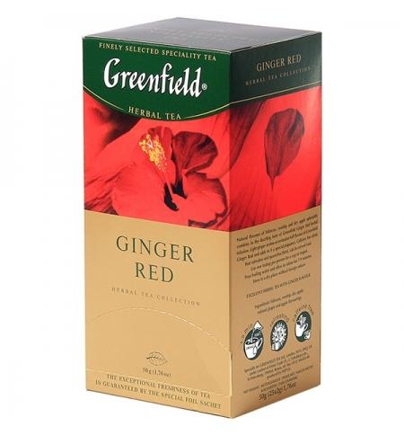 фото: Чай Greenfield Ginger Red (Джинджер Ред) травяной, 25 пакетиков