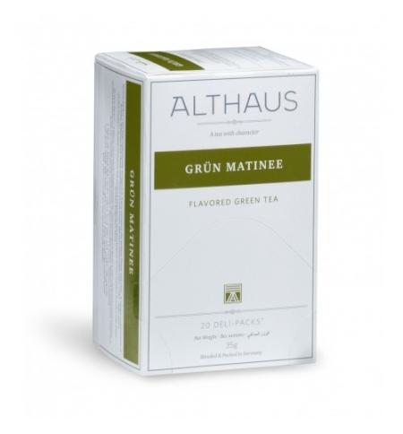 фото: Чай Althaus Grun Matinee зеленый, 20 пакетиков