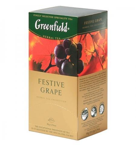 фото: Чай Greenfield Festive Grape (Фестив Грэйп) травяной, 25 пакетиков