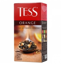 Чай Tess Orange (Оранж) черный, 25 пакетиков