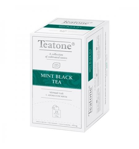 фото: Чай Teatone Mint Black Tea черный, 25 пакетиков