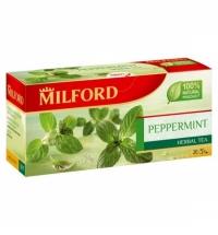 Чай Milford Peppermint 20 пакетиков, травяной