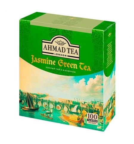 фото: Чай Ahmad Jasmine Green Tea (Зеленый Чай с Жасмином) зеленый, 100 пакетиков