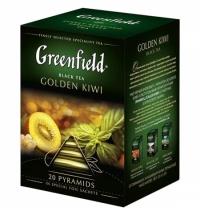 Чай Greenfield Golden Kiwi (Голден Киви) черный, в пирамидках, 20 пакетиков