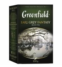 Чай Greenfield Earl Grey Fantasy (Эрл Грей Фэнтази) черный, листовой, 200 г
