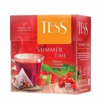 Чай Tess Summer Time (Самма Тайм) в пирамидках, 20 пакетиков, зеленый