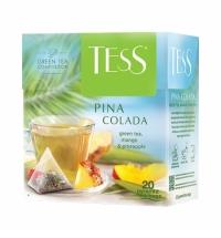 Чай Tess Pina Colada (Пина Колада) зеленый, в пирамидках, 20 пакетиков