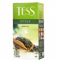 Чай Tess Style (Стайл) зеленый, 25 пакетиков