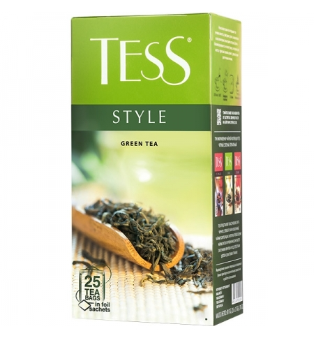 фото: Чай Tess Style (Стайл) зеленый, 25 пакетиков