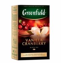Чай Greenfield Vanilla Cranberry (Ванилла Крэнберри) черный, листовой, 100 г