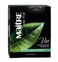 Чай Maitre De The Классический зеленый, 100 пакетиков