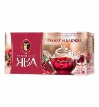 Чай Принцесса Ява Гранат и клюква травяной, 25 пакетиков